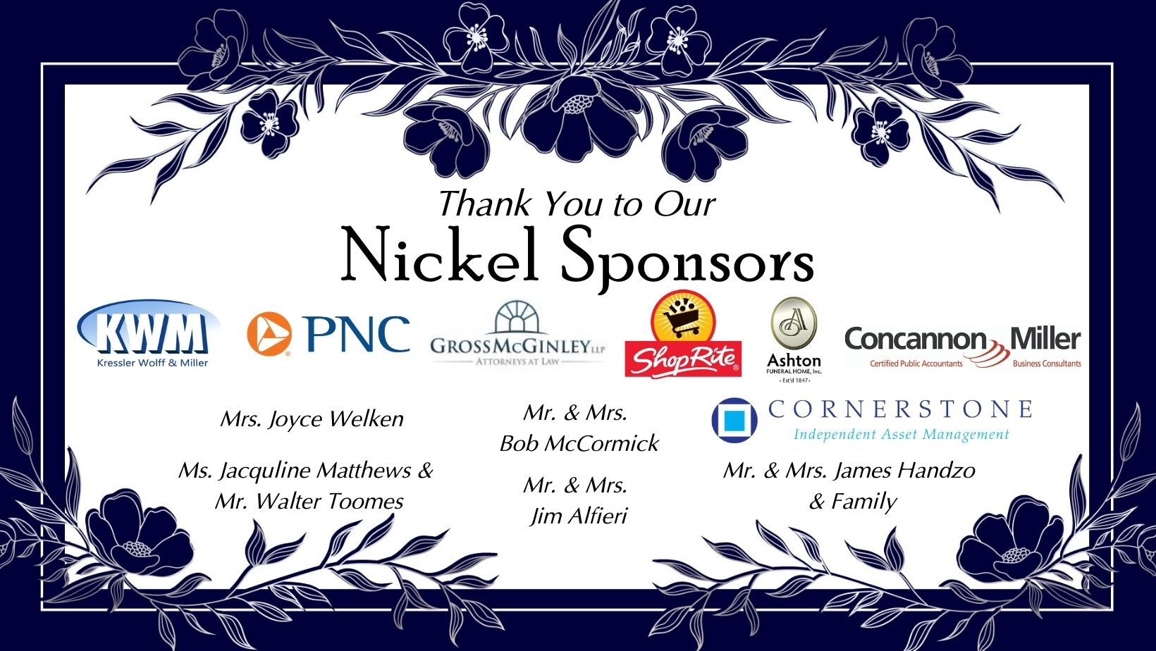 Nickle Sponsors March 31