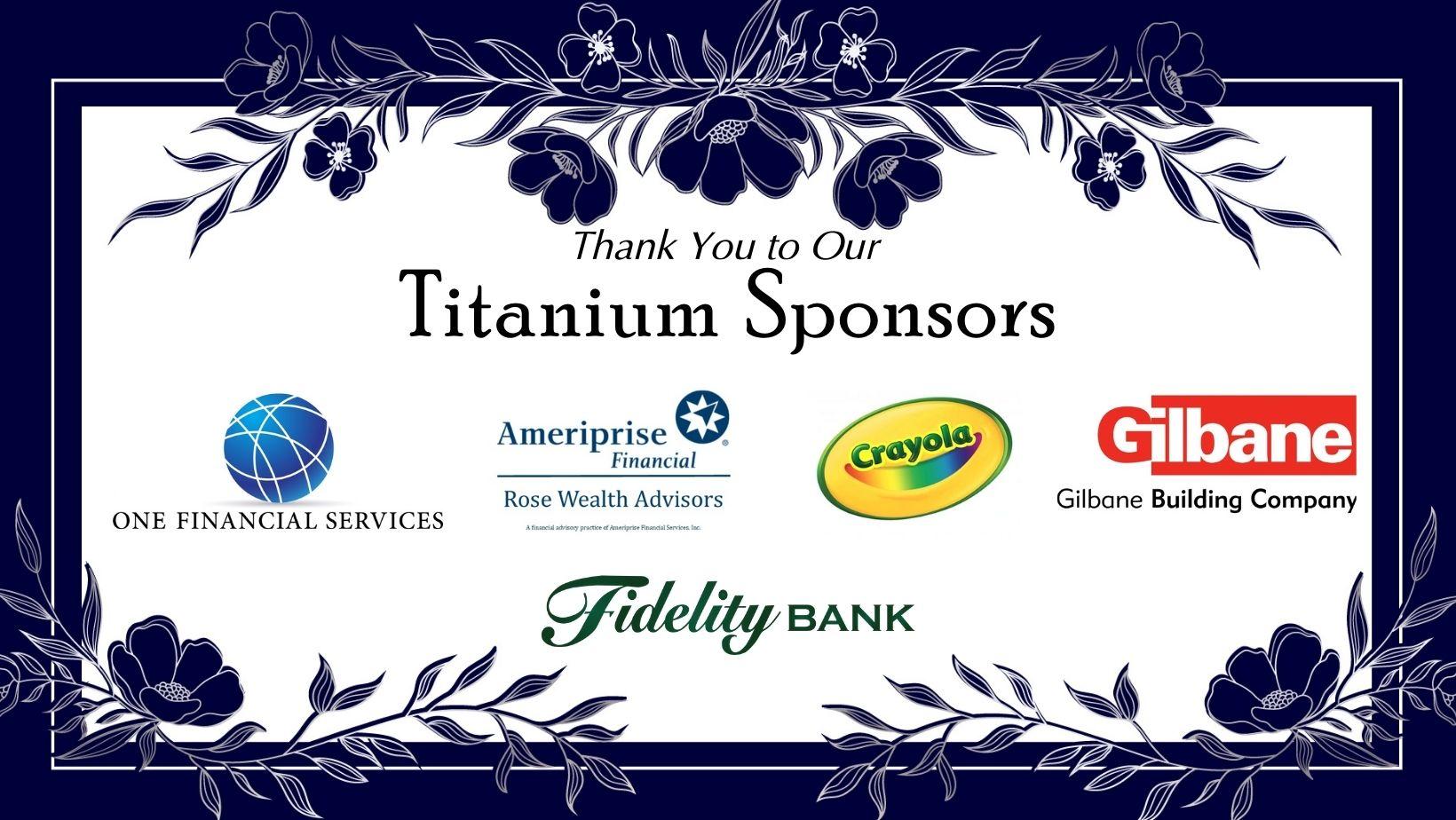 Titanium Sponsors March 31