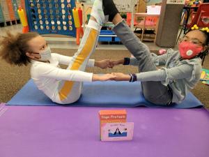 SACC doing yoga